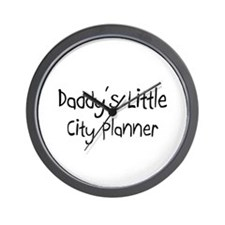 Daddy's Little City Planner Wall Clock