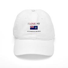 I Love My Montserratian Girlfriend Baseball Cap