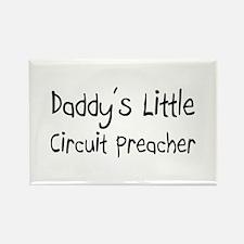 Daddy's Little Circuit Preacher Rectangle Magnet