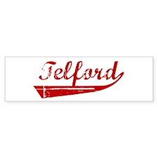 Telford (red vintage) Bumper Bumper Sticker