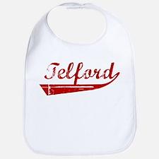 Telford (red vintage) Bib