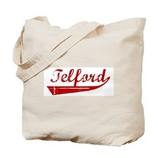 Telford (red vintage) Tote Bag