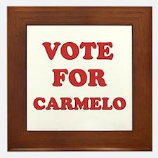 Vote for CARMELO Framed Tile