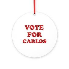 Vote for CARLOS Ornament (Round)
