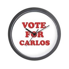 Vote for CARLOS Wall Clock