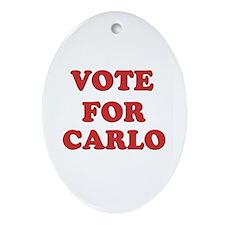 Vote for CARLO Oval Ornament