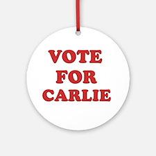 Vote for CARLIE Ornament (Round)