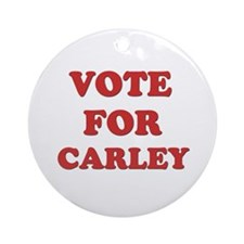 Vote for CARLEY Ornament (Round)