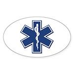 EMT Rescue Oval Sticker (10 pk)