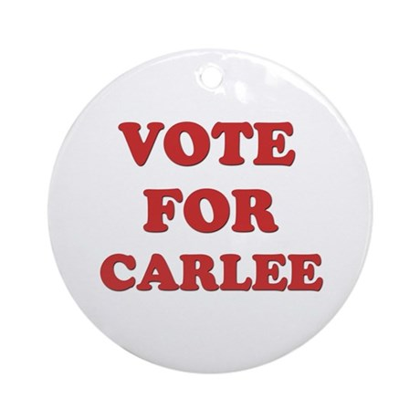 Vote for CARLEE Ornament (Round)