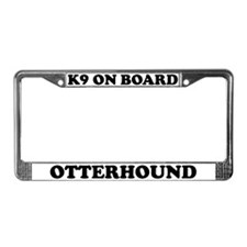 K9 On Board Otterhound License Plate Frame