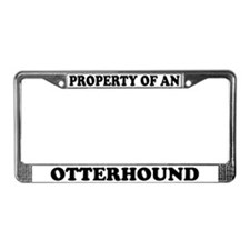 Property Of An Otterhound License Plate Frame