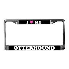 I Heart My Otterhound License Plate Frame