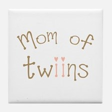 Mom of Twin Girls Twiin Tile Coaster