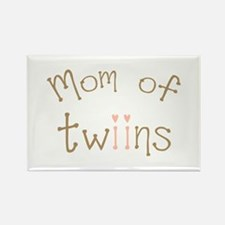 Mom of Twin Girls Twiin Rectangle Magnet