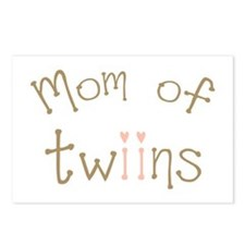 Mom of Twin Girls Twiin Postcards (Package of 8)