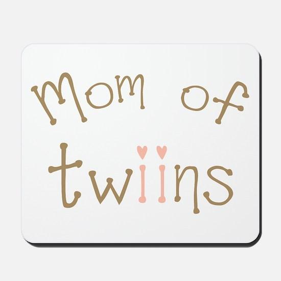 Mom of Twin Girls Twiin Mousepad