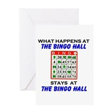 BINGO HALL Greeting Card