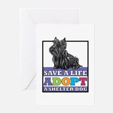 Adopt a Scottie Greeting Cards (Pk of 10)