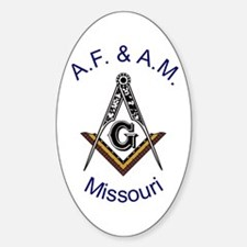 Missouri Square and Compass Oval Decal