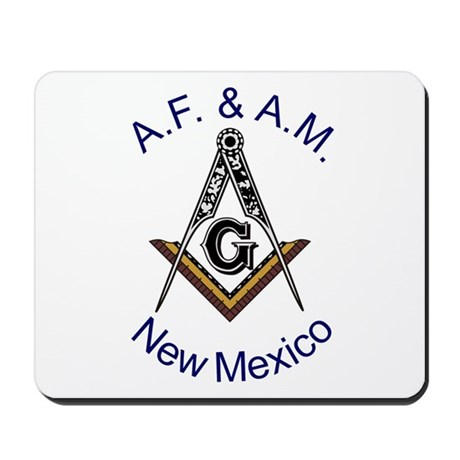 New Mexico Square and Compass Mousepad
