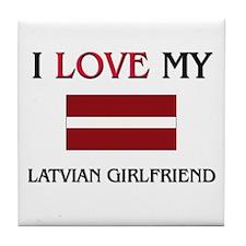 I Love My Laotian Girlfriend Tile Coaster