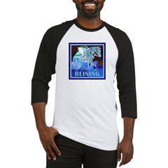 Blue Reining Horse Baseball Jersey