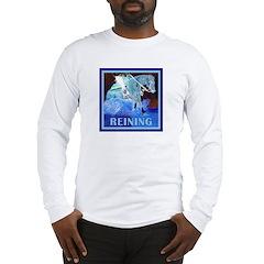 Blue Reining Horse Long Sleeve T-Shirt