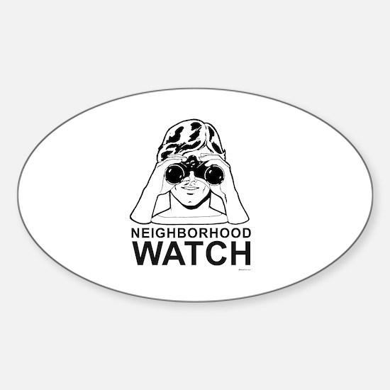 Neighborhood Watch ~ Oval Decal