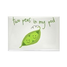 Two Peas In My Pod Rectangle Magnet