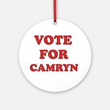 Vote for CAMRYN Ornament (Round)