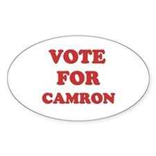 Vote for CAMRON Oval Decal