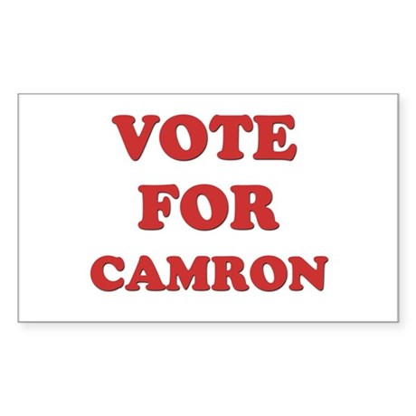 Vote for CAMRON Rectangle Sticker
