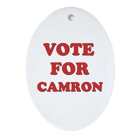 Vote for CAMRON Oval Ornament