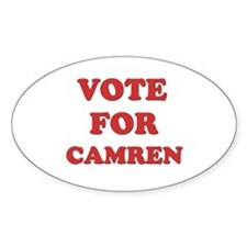 Vote for CAMREN Oval Decal