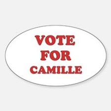 Vote for CAMILLE Oval Decal
