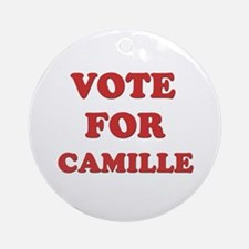 Vote for CAMILLE Ornament (Round)