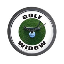 GOLF WIDOW Wall Clock