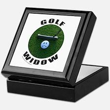 GOLF WIDOW Keepsake Box