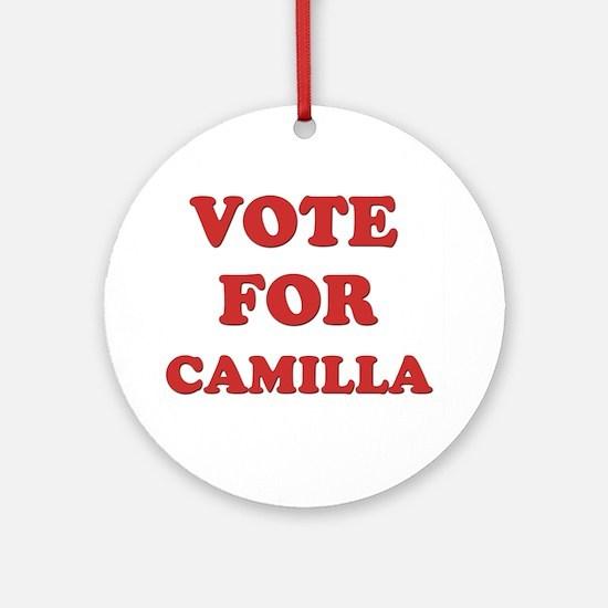 Vote for CAMILLA Ornament (Round)