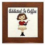 Addicted to Coffee Framed Tile
