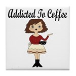 Addicted to Coffee Tile Coaster
