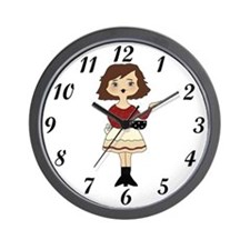 Coffee Girl Wall Clock