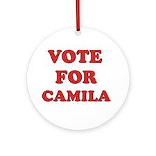 Vote for CAMILA Ornament (Round)
