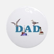 Dad's Fishing Place Ornament (Round)