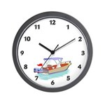 Dad's Fishing Place Wall Clock