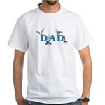 Dad's Fishing Place White T-Shirt