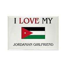 I Love My Jordanian Girlfriend Rectangle Magnet