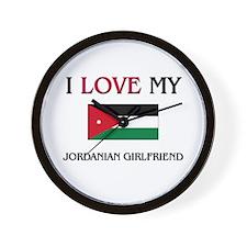 I Love My Jordanian Girlfriend Wall Clock