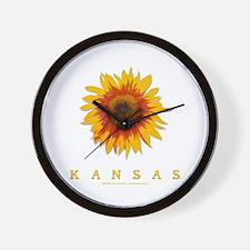 Kansas Sunflower Wall Clock